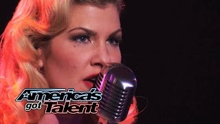 "Emily West: Sultry Songstress Performs ""Chandelier"" Cover - America's Got Talent 2014 thumbnail"