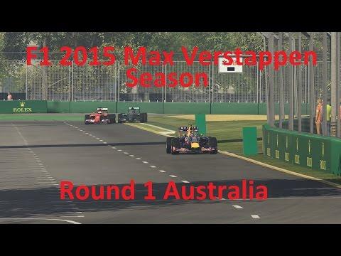 F1 2015 Max Verstappen Legend Career Round 1 Australia