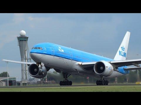 +20 Min BIG planes Take Off Schiphol Airport A340, B747, B777