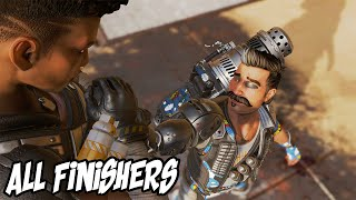 All Apex Legends Finishers in 1st Person & 3rd Person! Season 8! FUSE!
