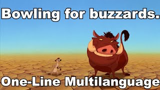 The Lion King - Bowling For Buzzards (One-Line multilanguage)