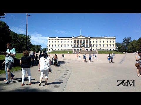 قصر الملك و الحدائق الملكية|  Royal palace oslo norway