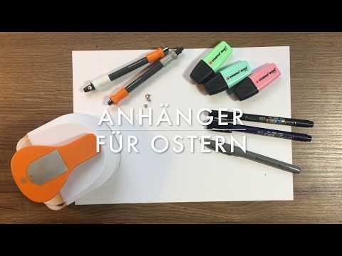DIY Oster-Anhänger selber machen / Geschenkanhänger