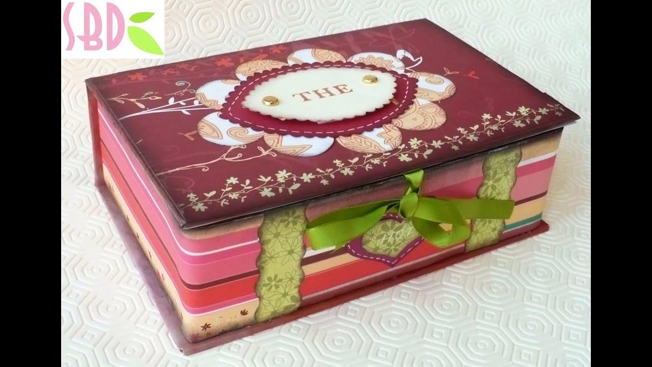 Scatola porta bustine da t tea bags holder box youtube - Porta a libro fai da te ...