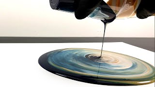 Paint kiss pouring - with fluid acrylic - 3D style !
