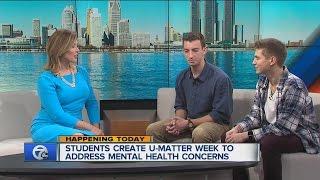 وست بلومفيلد طلاب المدارس الثانوية خلق U-المسألة أسبوع لمعالجة شواغل الصحة العقلية
