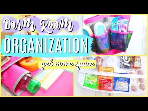 5 BEST ROOM/DORM ORGANIZATION HACKS | How to get a spacious room!!! | Paris & Roxy