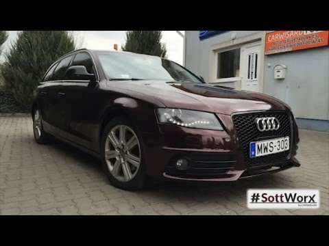 How Much Does It Cost To Paint A Car >> CarWisard - Audi A4 Avant wrapping Black Rose - YouTube