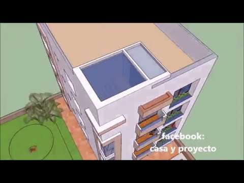Apartment plans small building of 4 levels