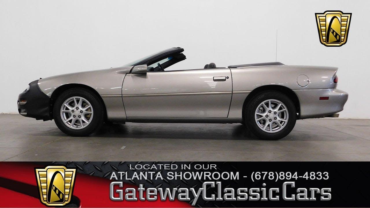 2001 Chevrolet Camaro Convertible Gateway Classic Cars Of Atlanta 713