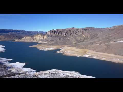 2018- low water levels in Blue Mesa Reservoir in Gunnison County Colorado