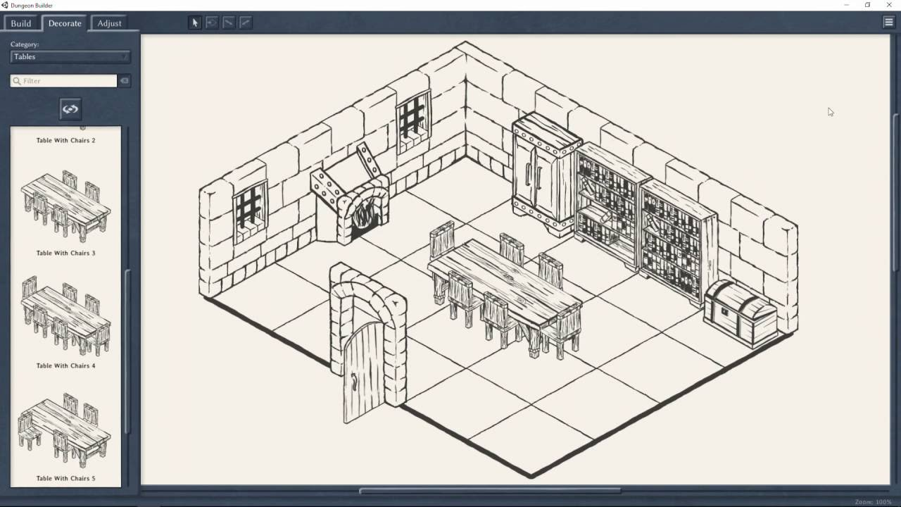 Dungeon Builder: An Isometric Map Maker for Role Players by