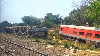 [IRI] Rail Accident | TRAIN18 Vande Bharat Crossing Poorva Express Accident Site on Near Kanpur