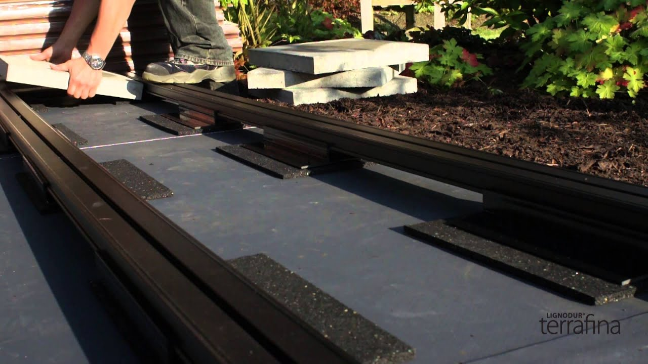 la pose d'une terrasse terrafina (wpc) - préparations terrasse de