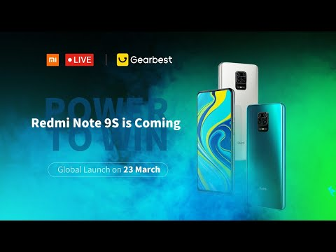 Redmi Note 9S Online Global Launch Live Event! Get free Newest Redmi Note & Coupons at Gearbest!