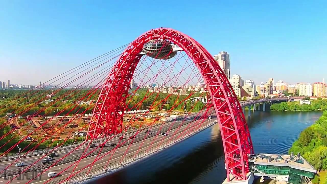 Москва с высоты птичьего полета - YouTube