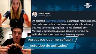 El senador de Movimiento Ciudadano en Nuevo León, Samuel García, se disculpó luego de las críticas que desató tras reprocharle a su esposa, Mariana Rodríguez, que enseñaba mucha pierna durante una cena en vivo