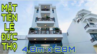 Bán nhà Gò Vấp( 90 )4.8m x 28m Mặt Tiền Lê Đức Thọ Kinh doanh buôn bán 4 lầu thiết kế đẹp đường 25m