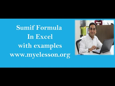 MS Excel SumIf Formula | Do Addition Based on a Condition