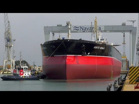 NAVANTIA Puerto Real: Puesta a flote del petrolero SUEZMAX 'Monte Udala'
