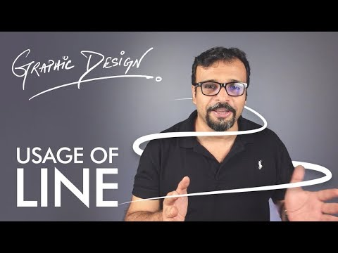 Visual Element LINE - Graphic Design Theory Class 2 Urdu / Hindi