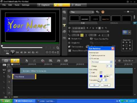 how to write a name on video screen