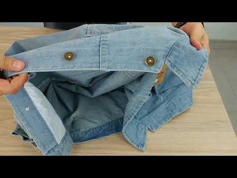 Áo Khoác Jeans Nam Xanh In Chữ Vải Dày đẹp A356