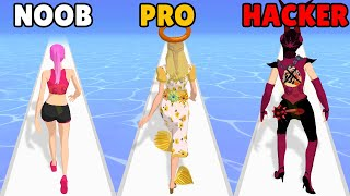 NOOB vs PRO vs HACKER in Destiny Run screenshot 1