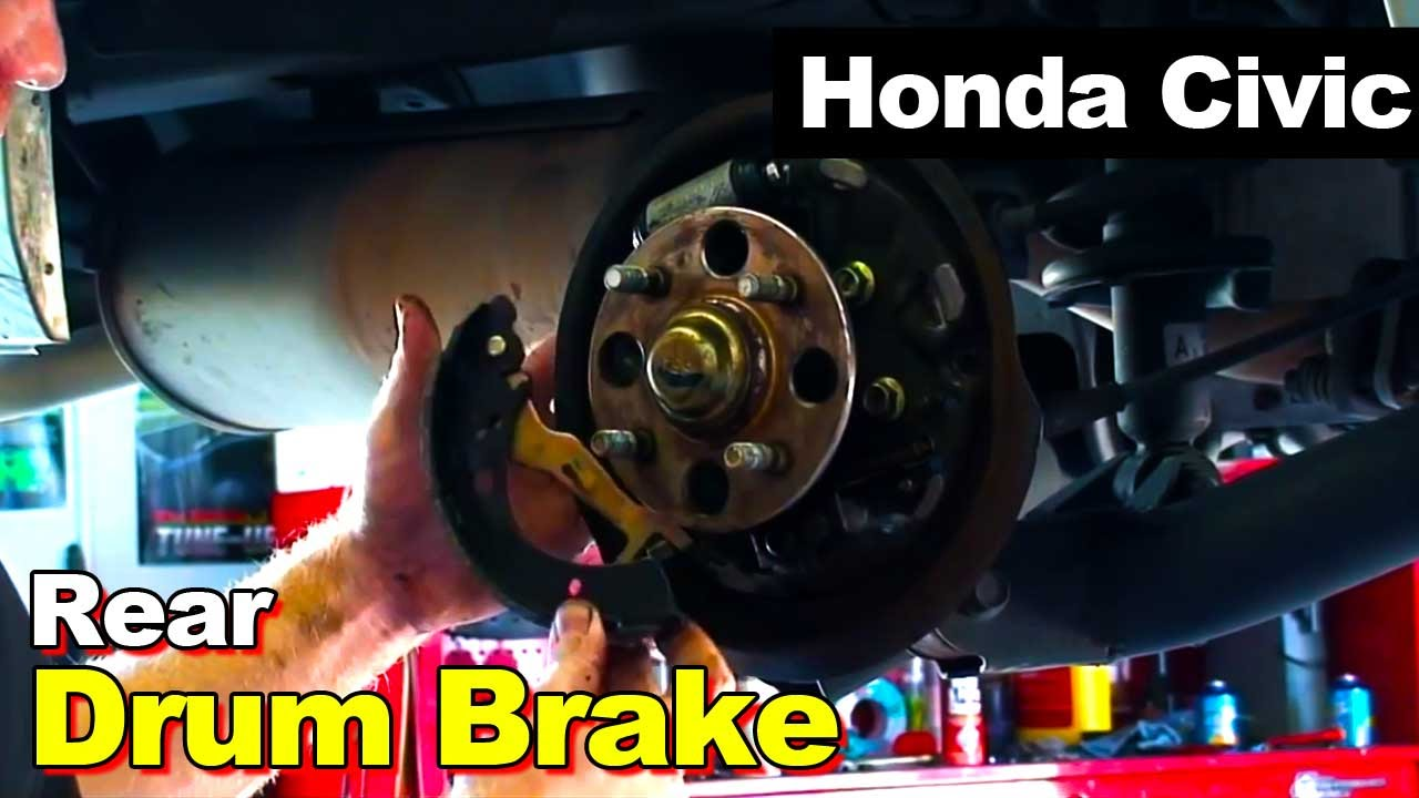 2001 2005 Honda Civic Rear Drum Brakes Youtube