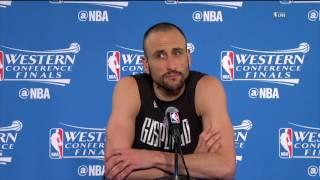 Manu Ginobili Postgame News Conference | Warriors vs Spurs WCF Game 1 | May 14, 2017
