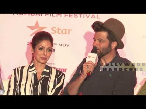Mr.India Team Reunion At MAMI Film Festival 2015 - Anil Kapoor, Sridevi, Satish Kaushik