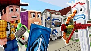 Minecraft Toy Story - Evil Forky Wants To Kill Buzz Lightyear! [6]
