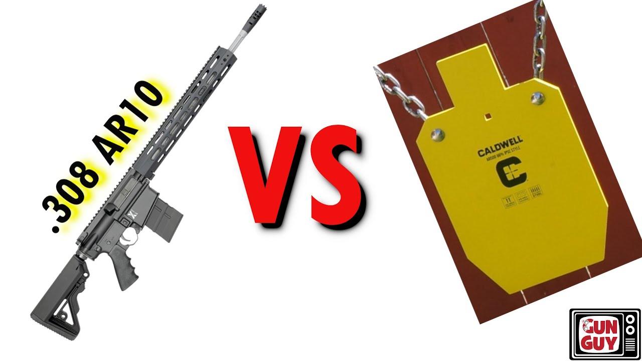 .308 AR10 vs Steel - The Rock River LAR-8 Returns!