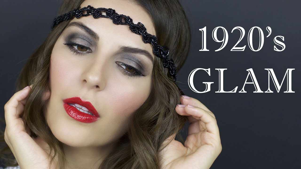Makeup Hair Tutorial 1920s Flapper Youtube - 20s-makeup