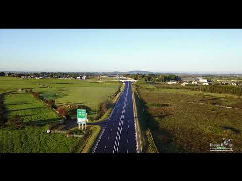 Aerial View of the New Tuam M17 Bypass