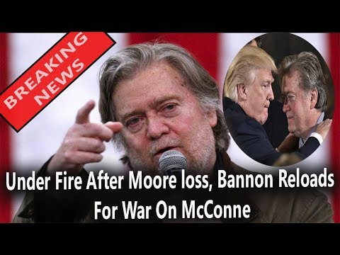 Under Fire After Moore Loss, Bannon Reloads For War On McConne || World News Radio