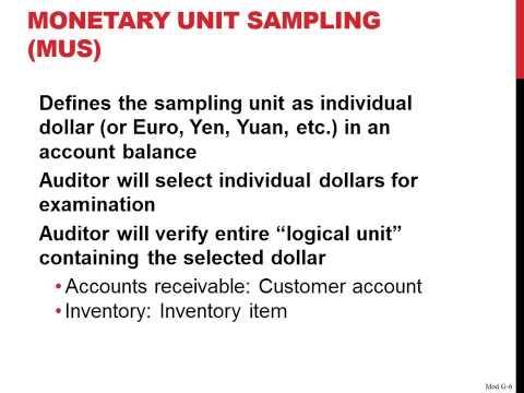 Monetary Unit Sampling MUS In Auditing