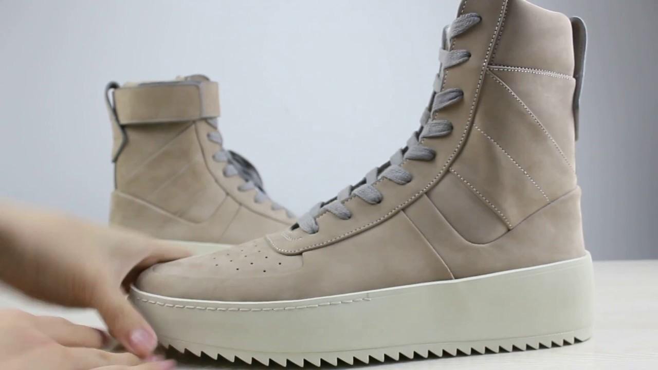7676cbf07100 Fear Of God Military Sneaker in Tan sneaker review from www.thebestpair.net