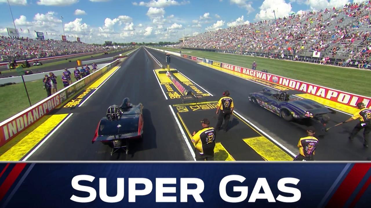 2018 Chevrolet Performance U.S. Nationals Super Gas winner Devin Isenhower