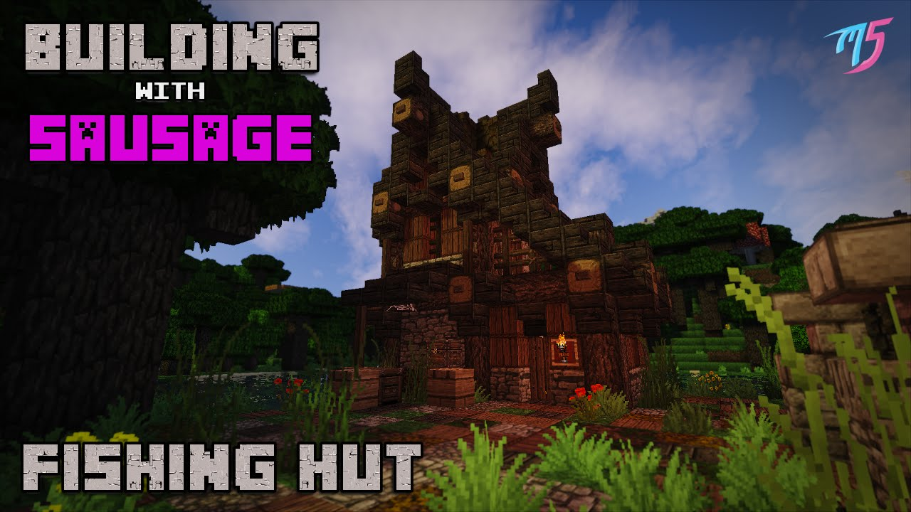 Minecraft - Building With Sausage - Medieval Fishing Hut