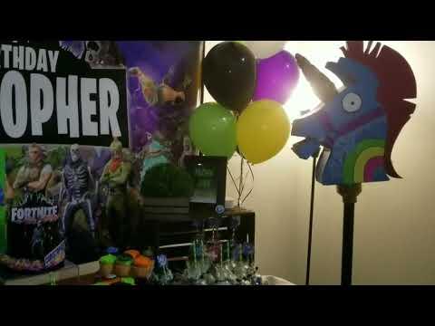 CJ's Epic Fortnite Battle Royale Birthday Party