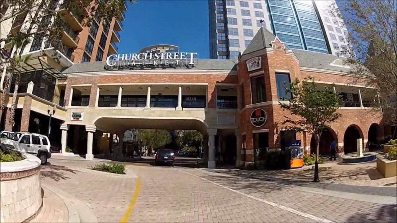 Driving Down Church St From Amway Center To Liberty Downtown Orlando Florida 32801