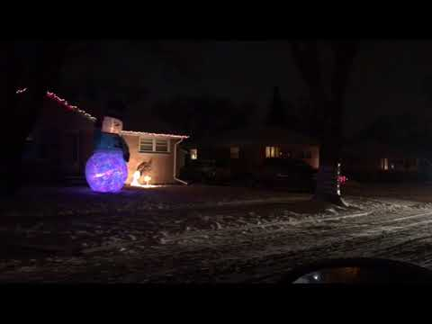 Christmas Holidays Lights on Candy Cane Lane in West Allis, Wisconsin, USA