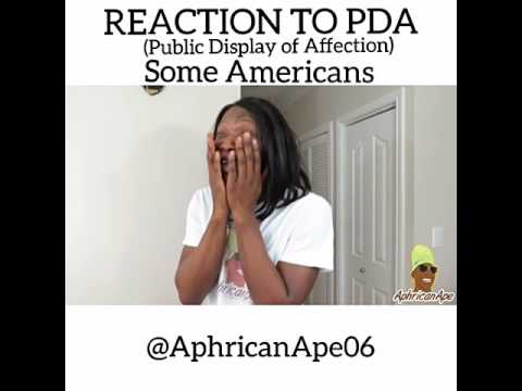 Video (skit): AphricanApe - Reaction to PDA (American Vs African Parents)