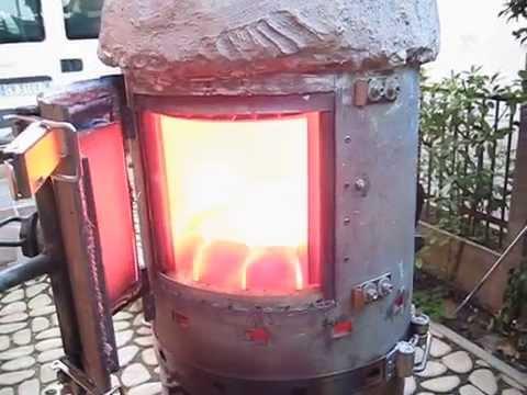 stufornace stufa fornace a gas di legna youtube