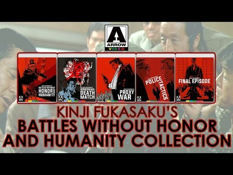 Kinji Fukasaku's Battles Without Honor and Humanity Collection 1-5 | Arrow Video Blu-ray Unboxing