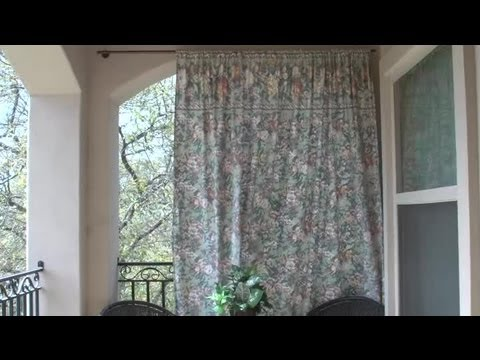 Hanging Sheets on a Balcony for Privacy : Home Design Ideas - YouTube