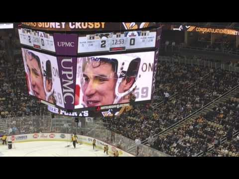 SIDNEY CROSBY REACHED 1000 POINT MILESTONE