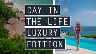 DITL (Day In The Life) LUXURY EDITION // Beach Club, KARMA SPA + More // INDONESIA