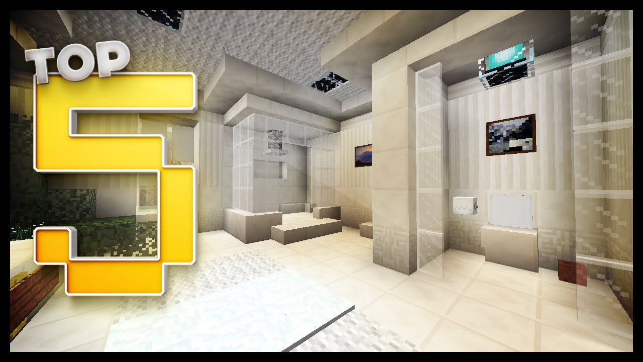 Bathroom Ideas On Minecraft minecraft - bathroom designs & ideas - youtube